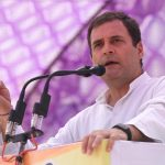 Sultanpur: Congress President Rahul Gandhi addresses a public rally in Sultanpur, Uttar Pradesh on May 4, 2019. (Photo: IANS) by .
