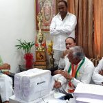 Bhopal: Congress delegation led by Former Union Minister Suresh Pachouri meets former Madhya Pradesh Chief Minister Shivraj Singh Chouhan at his residence with documents containing details of farmers whose loans have been waived off by the present state government, in Bhopal on May 7, 2019. (Photo: IANS) by .