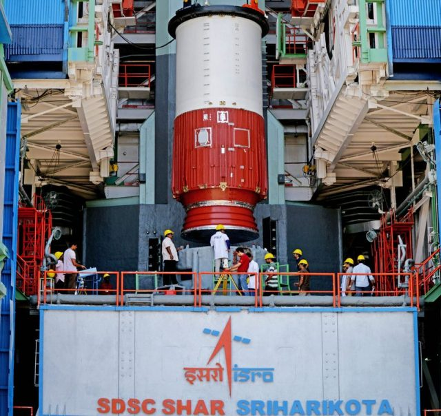 Sriharikota: PSLV-C46 is set to launch RISAT-2B from Satish Dhawan Space Centre on 22nd May, 2019; in Sriharikota on May 11, 2019. (Photo: IANS/ISRO) by .