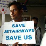 Mumbai: Jet Airways employees stage a protest at Chhatrapati Shivaji International Airport, in Mumbai, on May 8, 2019. (Photo: IANS) by .