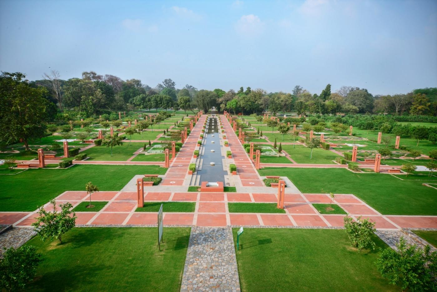 Sunder Nursery Central Axis - The design of this 560 m vista is inspired by the Persian carpet design and includes a central portion that in future years will form the heart of Sunder Nursery for visitors. (Photo Credit: The Aga Khan Trust for Culture) by .