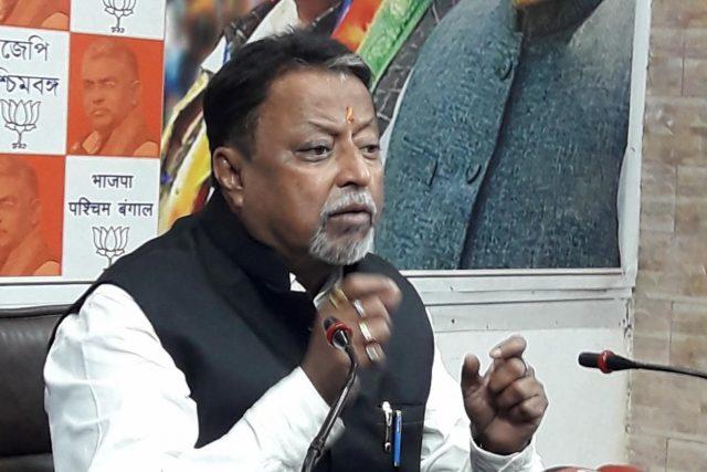 Kolkata: BJP leader Mukul Roy addresses a press conference in Kolkata Feb 10, 2019. (Photo: IANS) by .