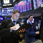 NEW YORK, May 7, 2019 (Xinhua) -- Traders work at the New York Stock Exchange in New York, the United States, on May 7, 2019. U.S. stocks ended sharply lower on Tuesday. The Dow Jones Industrial Average fell 473.39 points, or 1.79 percent, to 25,965.09. The S&P 500 decreased 48.42 points, or 1.65 percent, to 2,884.05. The Nasdaq Composite Index was down 159.53 points, or 1.96 percent, to 7,963.76. (Xinhua/Wang Ying/IANS) by .