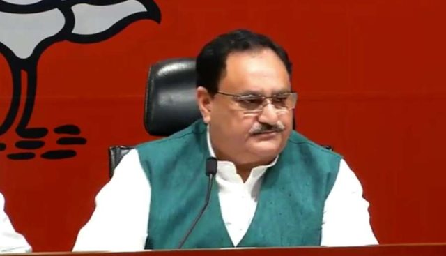 New Delhi: Union Minister and BJP leader JP Nadda addresses a press conference in New Delhi on March 21, 2019. (Photo: IANS) by .