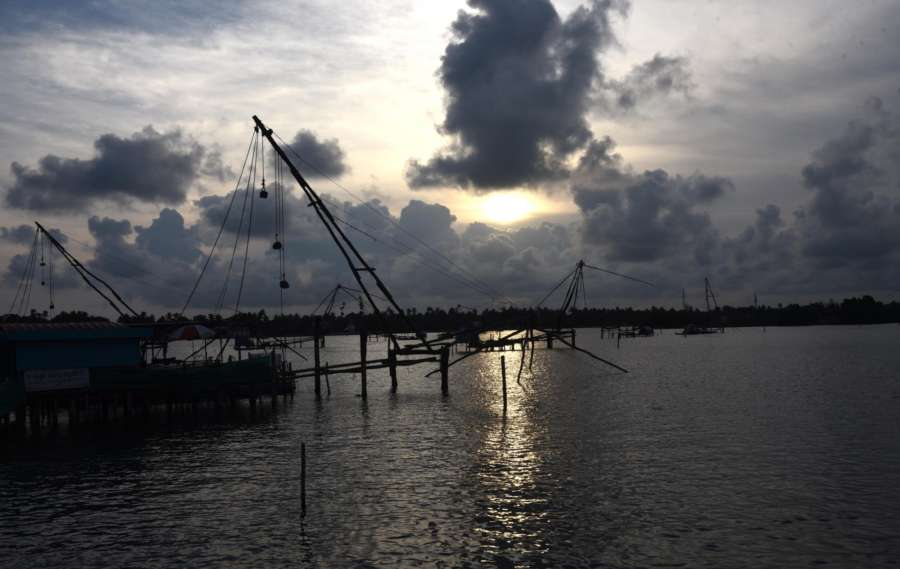 Kochi: Dark clouds seen over Kochi on June 2, 2018. (Photo: IANS) by .