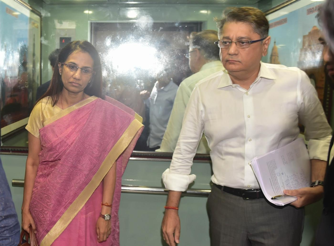 New Delhi: Former ICICI Bank chief Chanda Kochhar and her husband Deepak Kochhar arrive to appear before the Enforcement Directorate (ED) in connection with the Rs 1,875-crore Videocon loan case in New Delhi on May 13, 2019. (Photo: IANS) by .