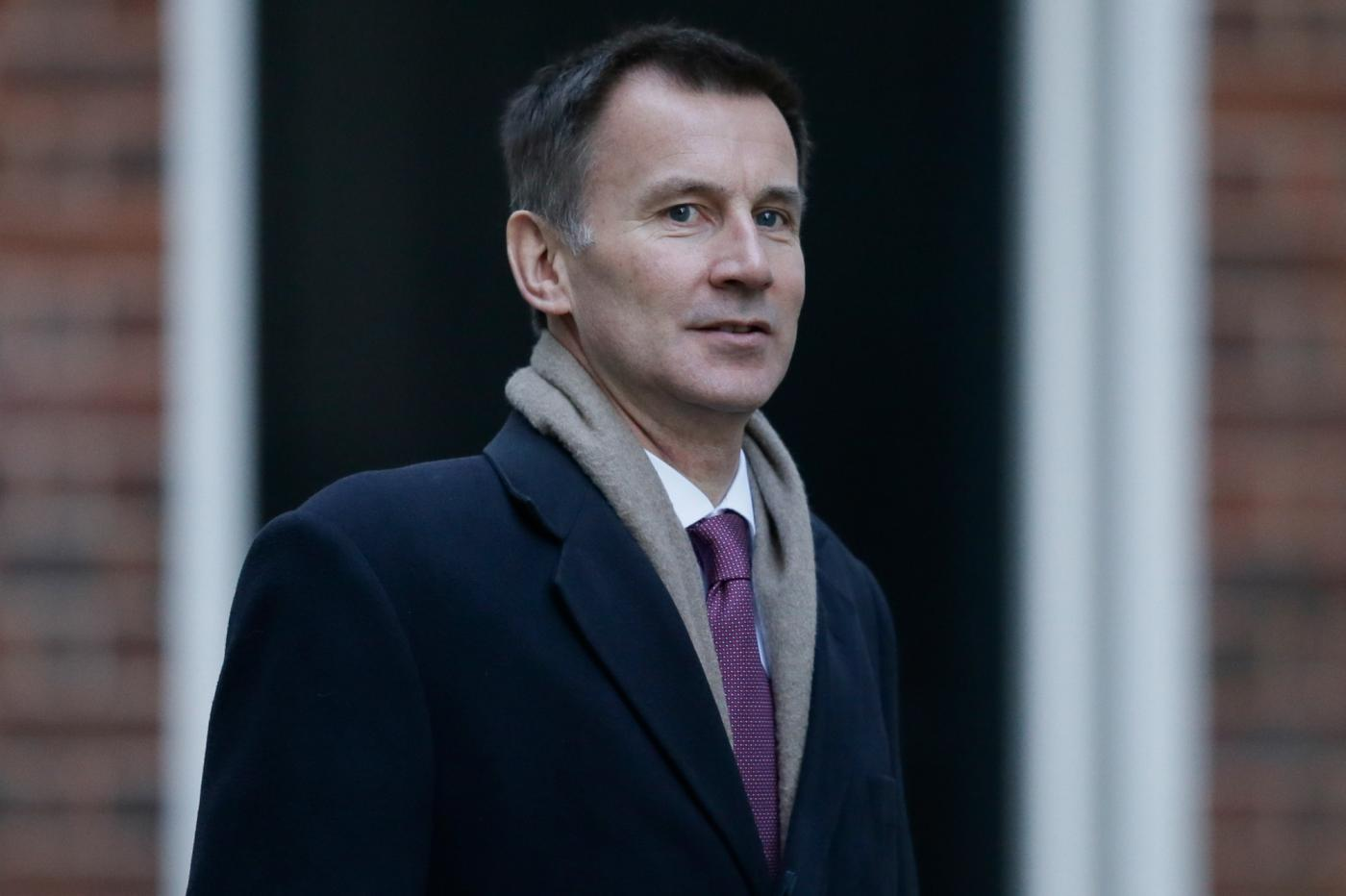 LONDON, Jan. 9, 2019 (Xinhua) -- British Foreign Secretary Jeremy Hunt arrives for a cabinet meeting at 10 Downing Street in London, Britain on Jan. 8. 2019. British government confirmed Tuesday that a delayed parliamentary vote on the Brexit deal will take place on Jan. 15. (Xinhua/Tim Ireland/IANS) by .