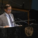 Rohan Perera, Sri Lanka's Permanent Representative to the United Nations, speaks on Friday, May 3, 2019, at a commemoration of the victims of the Easter Sunday terrorist attack on his country. (Photo: UN/IANS) by .