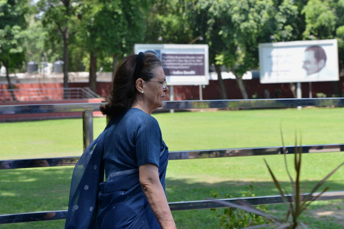 New Delhi: UPA Chairperson Sonia Gandhi arrives to attend the Congress Working Committee (CWC) meeting at the party's headquarters in New Delhi, on May 25, 2019. (Photo: IANS) by .