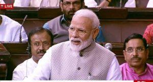 New Delhi: Prime Minister Narendra Modi addresses in Rajya Sabha in Parliament, New Delhi on June 26, 2019. (Photo: IANS/RSTV) by .