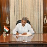New Delhi: S. Jaishankar takes charge as the Union Minister for External Affairs at South Block, in New Delhi on May 31, 2019. (Photo: IANS) by .