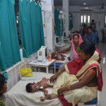 Muzaffarpur: Children with Acute Encephalitis Syndrome (AES) symptoms being treated at hospital in Muzaffarpur, Bihar on June 19, 2019. (Photo: IANS) by .