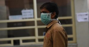 Kochi: A hospital staff seen wearing mask as a precautionary measure against the Nipah virus (NIV) at Ernakulam General Hospital, in Kochi, on June 5, 2019. (Photo: IANS) by .