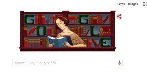 Google celebrates Italian philosopher and theologian Elena Cornaro Piscopia with a Doodle. by .