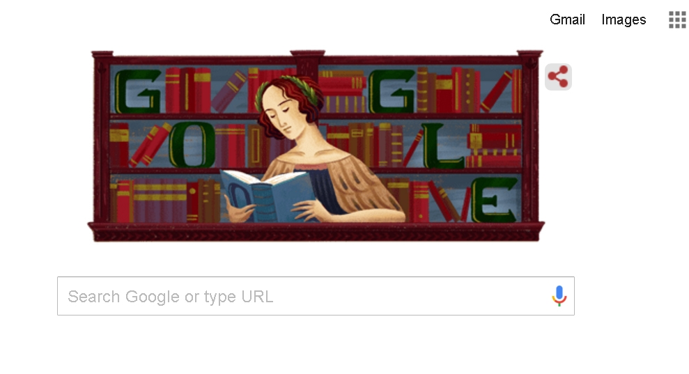 Google celebrates Italian philosopher and theologian Elena Cornaro Piscopia with a Doodle. by .