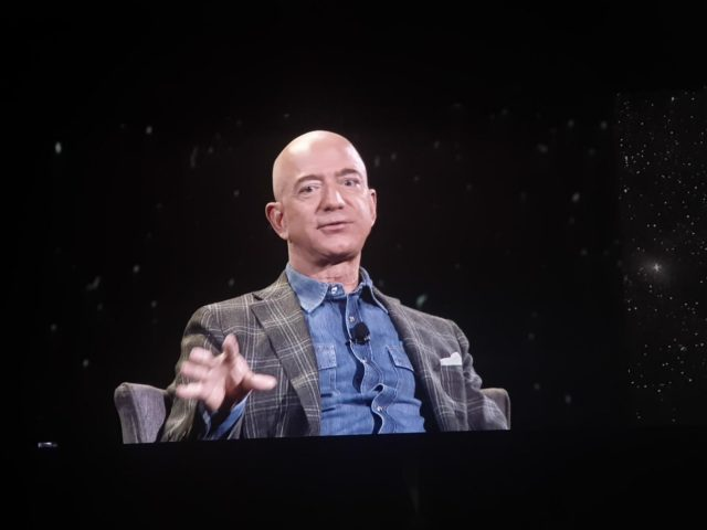 Las Vegas: Jeff Bezos during on-stage talk at Amazon re: Mars conference in Las Vegas on June 6, 2019. (Photos: IANS) by .