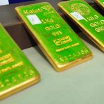 Gold bullions. (File Photos: Xinhua/Rachen Sageamsak/IANS) by .