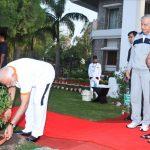Dehradun: Prime Minister Narendra Modi plants a sapling at Raj Bhawan on the Fourth International Yoga Day in Dehradun on June 21, 2018. (Photo: IANS) by .