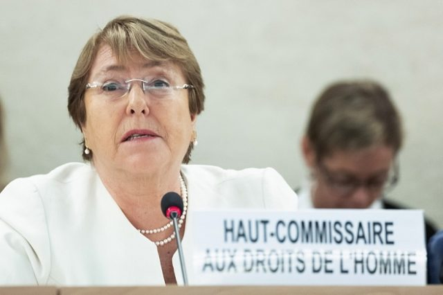 Michelle Bachelet, United Nations High Commissioner for Human Rights speaks at the at the Human Rights Council session on Monday, September 10, 2018. (Photo: UN/IANS) by .