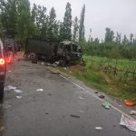 Pulwama: The army vehicle that got damaged in an improvised explosive device (IED) blast triggered by militants in Jammu and Kashmir's Pulwama district on June 17, 2019. This comes barely four months after a suicide attack on a CRPF convoy killed 40 troopers in the same district. (Photo: IANS) by .