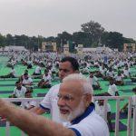 Ranchi: Prime Minister Narendra Modi during International Yoga Day 2019 celebrations at Prabhat Tara Maidan in Ranchi on June 21, 2019. (Photo: IANS/PIB) by .