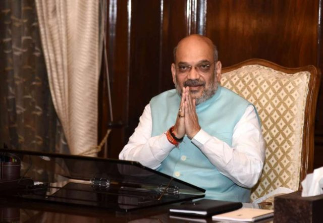 New Delhi: Amit Shah takes charge as the Union Minister for Home Affairs, in New Delhi on June 1, 2019. (Photo: IANS/PIB) by .