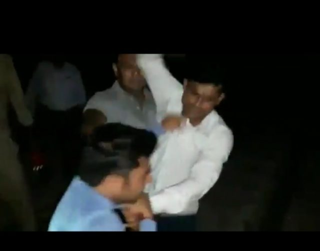 GRP personnel abused, kicked and beat up Amit Sharma of News 24 in Shamli, Uttar Pradesh on Wednesday. by .