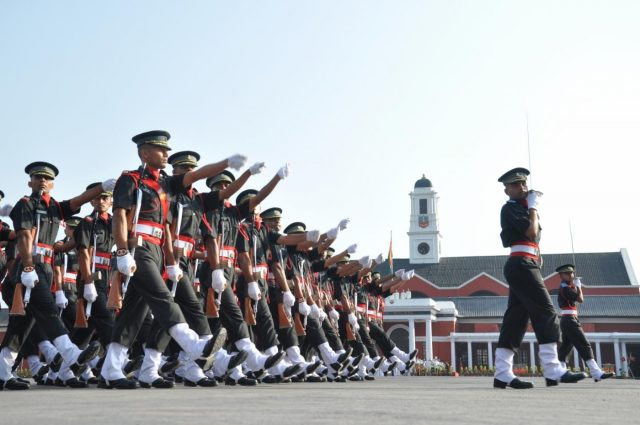 Dehradun: Cadets march during their Passing out Parade at the Indian Military Academy (IMA) in Dehradun, on June 8, 2019. A total of 382 cadets were commissioned into the Army after the Passing out Parade. (Photo: IANS) by .
