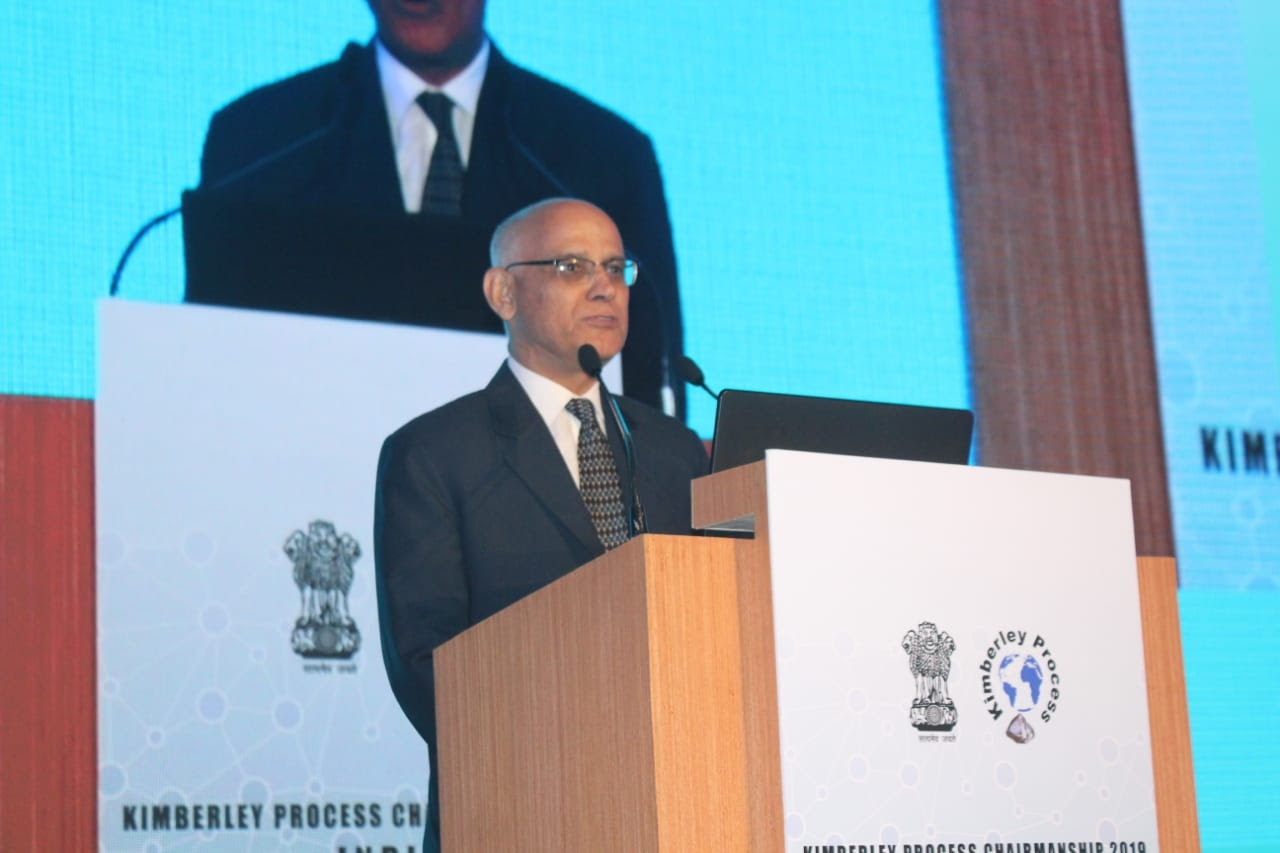 Mumbai: Mumbai: India's Director-General of Foreign Trade Alok Vardhan Chaturvedi addresses during the inaugural of Kimberley Process Intersessional (KPCS) meeting 2019 in Mumbai on June 17, 2019. (Photo: IANS) by .
