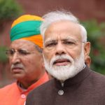 New Delhi: New Delhi: Prime Minister Narendra Modi arrives at Parliament house, in New Delhi on June 17, 2019. Also seen Union Minister Arjun Ram Meghwal. (Photo: Amlan Paliwal/IANS) by .