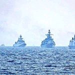 """IndianNavy executes 'Operation Sankalp' - Deploys INS Chennai & INS Sunayna in the Gulf of Oman, to re-assure Indian Flagged Vessels operating/ transiting through Persian Gulf & Gulf of Oman following the maritime security incidents in the region; on June 20, 2019. In wake of suspected attacks on two merchant ships in the Persian Gulf and Gulf of Oman region, the Indian Navy launched """"Operation Sankalp"""" in the region to reassure Indian flagged vessels transiting through the area. (Photo Credit: Twitter/@indiannavy) by ."""