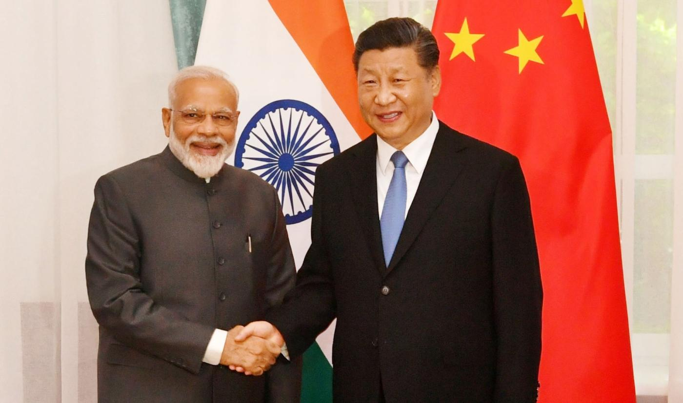 Bishkek: Prime Minister Narendra Modi meets Chinese President Xi Jinping on the sidelines of the SCO Summit in Bishkek, Kyrgyz Republic on June 13, 2019. (Photo: IANS/PIB) by .