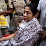 Mumbai: Former INX Media chief Indrani Mukerjea after being discharged from Sir J.J. Hospital, in Mumbai on April 11, 2018. Indrani - in custody since August 2015 as one of the prime accused in the April 2012 disappearance and subsequent murder of her 24-year old daughter Sheena Bora - underwent a brain MRI scan and other tests after she was rushed to the hospital here due to an alleged drug overdose. (Photo: IANS) by .