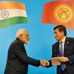 Bishkek: Prime Minister Narendra Modi and Kyrgyzstan President Sooronbay Jeenbekov at the inauguration of India-Kyrgy Business Forum in Bishkek, Kyrgyzstan on June 14, 2019. (Photo: IANS/PIB) by .
