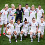 LYON, July 3, 2019 (Xinhua) -- Players of England pose for photos prior to the semifinal between the United States and England at the 2019 FIFA Women's World Cup at Stade de Lyon in Lyon, France on July 2, 2019. (Xinhua/Xiao Yijiu/IANS) by Xiao Yijiu.
