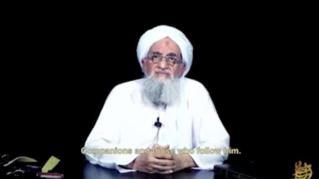 Al Qaeda chief Ayman Al-Zawahiri. by .
