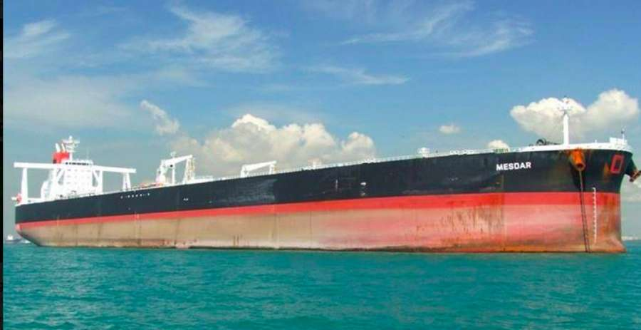 The British owned oil tanker Mesdar that was seized for a brief while by the Iranian Revolutionary Guards. by .