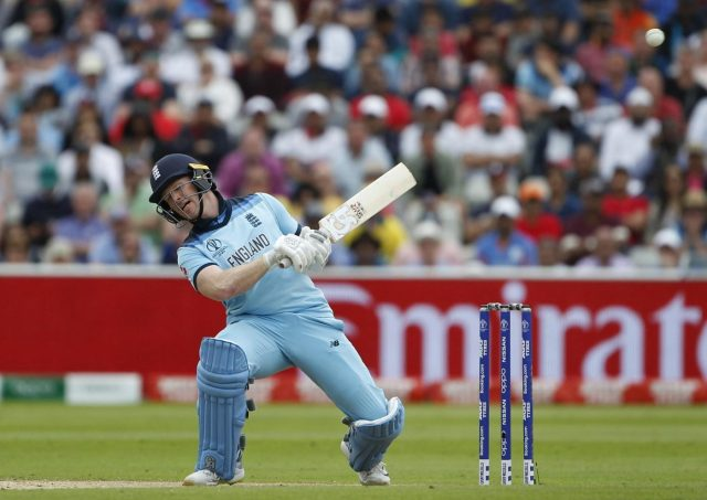 Birmingham: England's Eoin Morgan in action during the second semi-final match of the 2019 World Cup between England and Australia at the Edgbaston Cricket Stadium in Birmingham, England on July 11, 2019. (Photo: Surjeet Kumar/IANS) by .