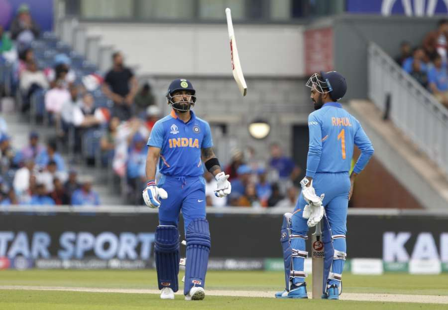 Manchester: India's Virat Kohli reacts after getting dismissed during the 1st Semi-final match of 2019 World Cup between India and New Zealand at Old Trafford in Manchester, England on July 10, 2019. (Photo: Surjeet Kumar/IANS) by .