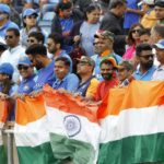 Leeds: Indian fans during the 44th match of World Cup 2019 between India and Sri Lanka at Headingley Stadium in Leeds, England on July 6, 2019. (Photo: Surjeet Yadav/IANS) by .