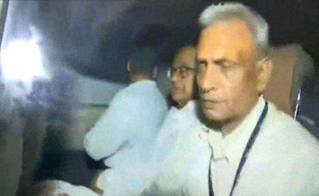 Congress leader P. Chidambaram in CBI custody. by .