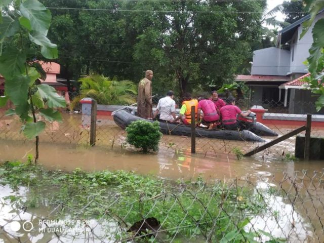 Nilambur: A view of flood hit areas of Nilambur in Kerala on Aug 8, 2019. (Photo: IANS) by .