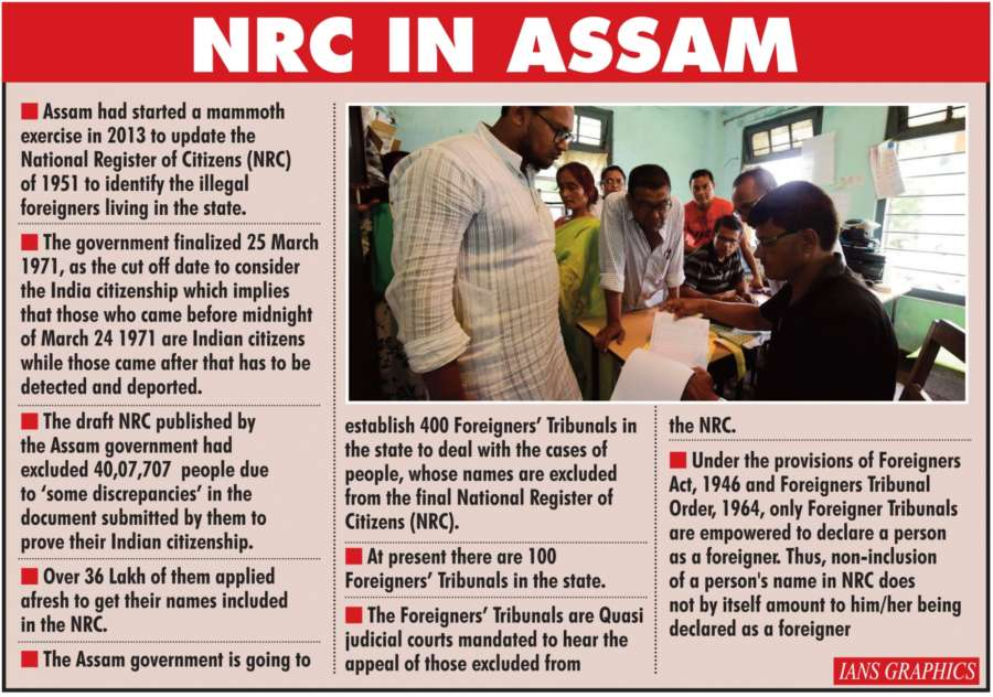 NRC in Assam. (IANS Infographics) by .