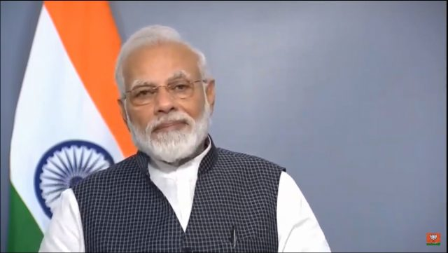 New Delhi: Prime Minister Narendra Modi addresses the nation after the government altered the special status of Jammu and Kashmir in New Delhi on Aug 8, 2019. (Photo: IANS) by .