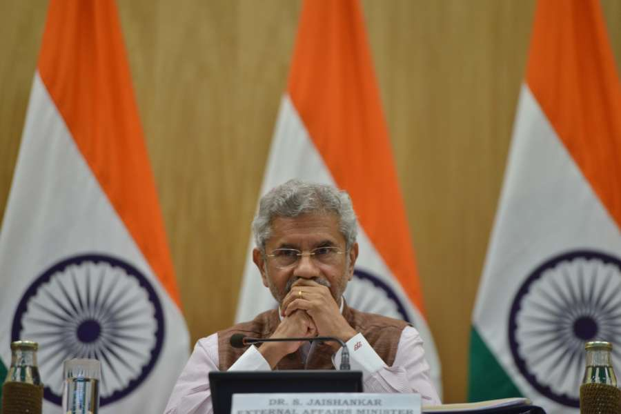 New Delhi: External Affairs Minister S. Jaishankar during a press conference on 100 days of Government, in New Delhi on Sep 17, 2019. (Photo: IANS) by .