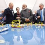 Vladivostok: Prime Minister Narendra Modi and Russian President Vladimir Putin visit the Zvezda ship-building facility which is being expanded and has scope for foreign investment on Sep 4, 2019. The facility, located in Russia's Far East, was used to decommission the nuclear submarines of erstwhile Soviet Union after the end of Cold War and is now in the process of building scores of ships. (Photo: IANS) by .