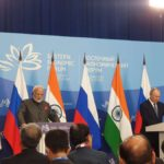 Vladivostok: Prime Minister Narendra Modi and Russian President Vladimir Putin issue Joint Press Statement, in Vladivostok on Sep 4, 2019. (Photo: IANS) by .