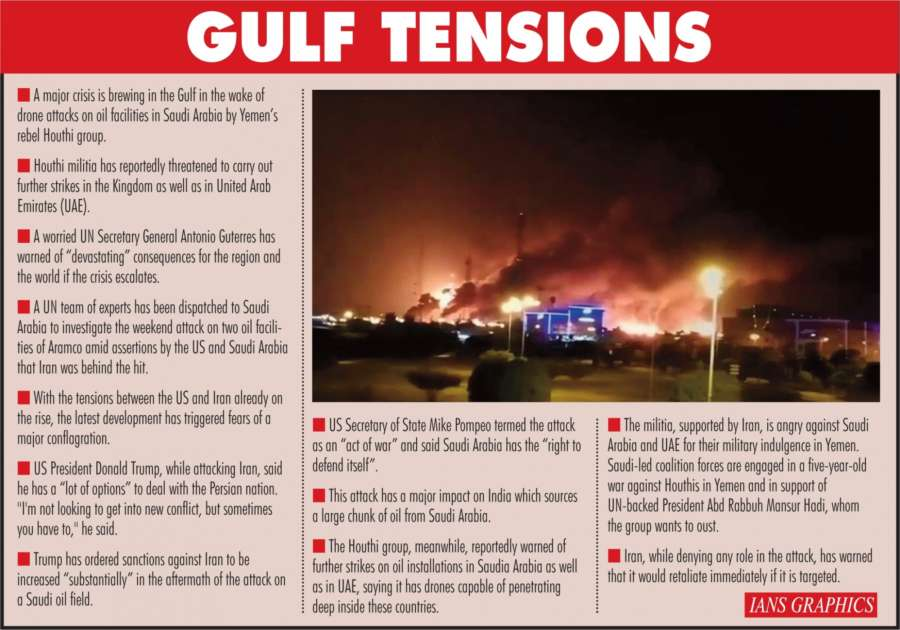 Gulf Tensions. (IANS Infographics) by .