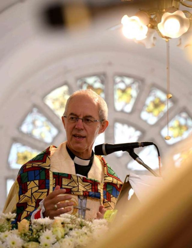 Bengaluru: The 105th Archbishop of Canterbury Justin Welby conducts the holy communion mass and shares the sermon at St. Marks Cathedral in Bengaluru on Sep 4, 2019. (Photo: IANS) by .