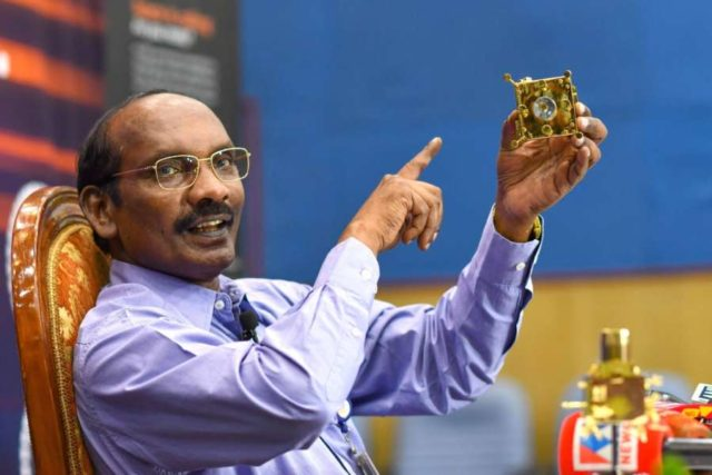 Bengaluru: ISRO Chairman K. Sivan addresses a press conference after the insertion of India's spacecraft to the moon, Chandrayaan-2, into the lunar orbit; at ISRO Headquarters in Bengaluru on Aug 20, 2019. (Photo: IANS) by .